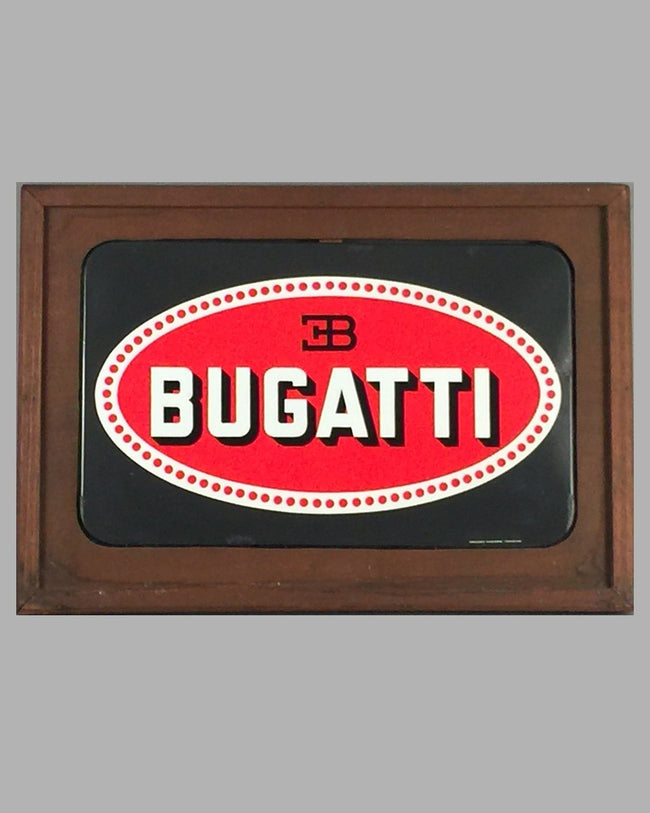 Bugatti dealer enamel sign made for the Bugatti Factory