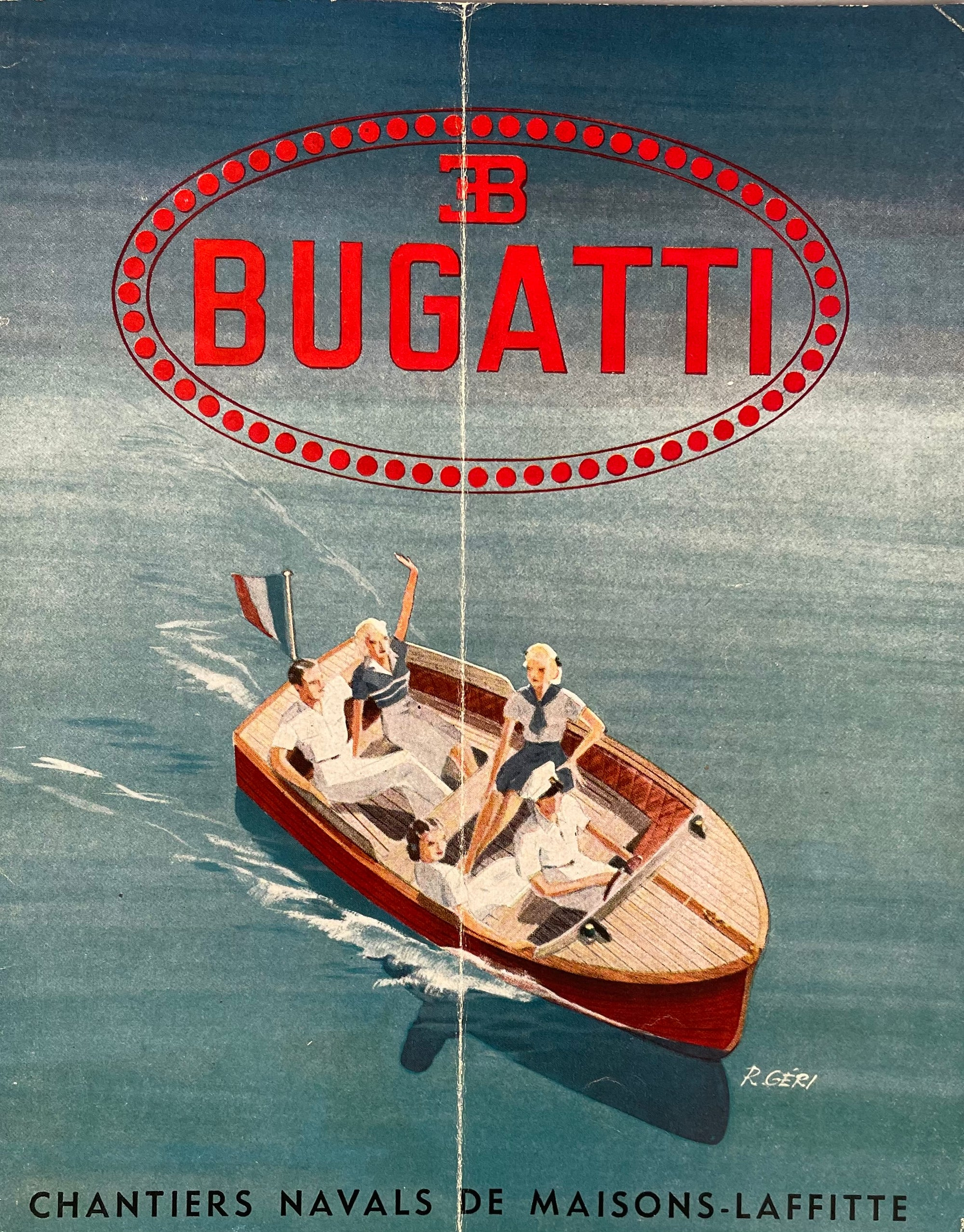 Bugatti You-You Motor Boat sales brochure 1946