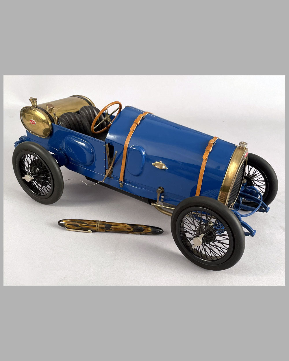 Bugatti Brescia scratch built model by Marc Antonietti and Henri Bossac in the 1980's