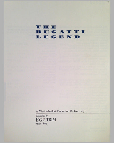 The Bugatti Legend book