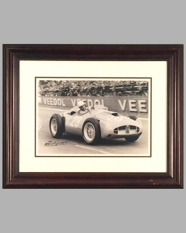 1956 GP Reims Maurice Trintignant autographed photograph of the Bugatti T251