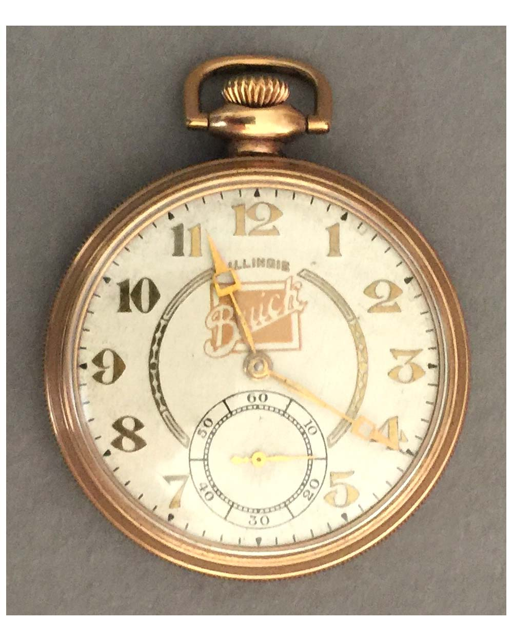 "Vintage Buick pocket watch By Illinois<br><span style=""color: #ff0000;"">$690 -25% = $518</span>"