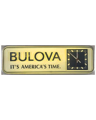 Bulova display sign / clock, 1960's front