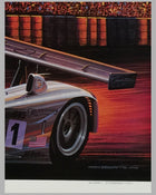 Cadillac at Le Mans print by Ken Eberts (USA), 2000, signed 3
