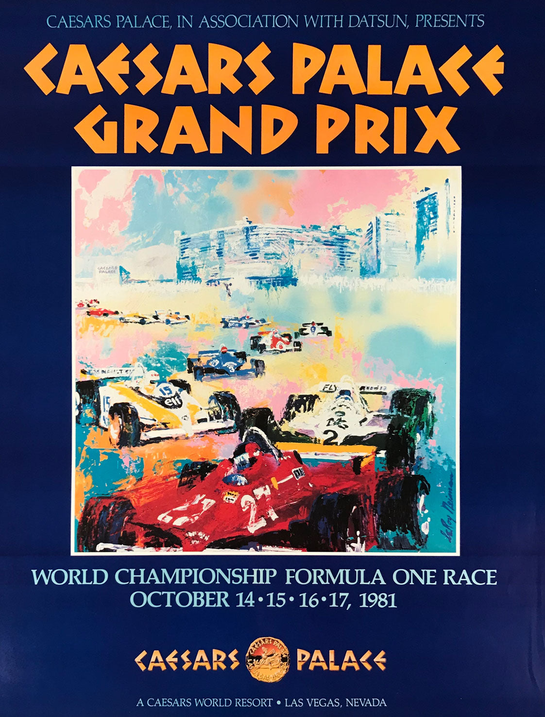 1981 Caesars Palace Grand Prix in Las Vegas poster by LeRoy Neiman