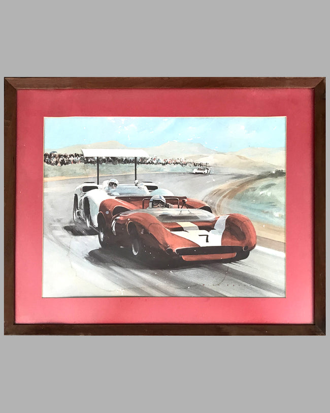 Can-Am's First Champion print by Dion Pears