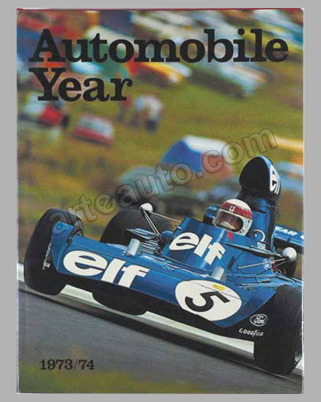 Automobile Year #21 1973-1974 book published by Edita S.A.