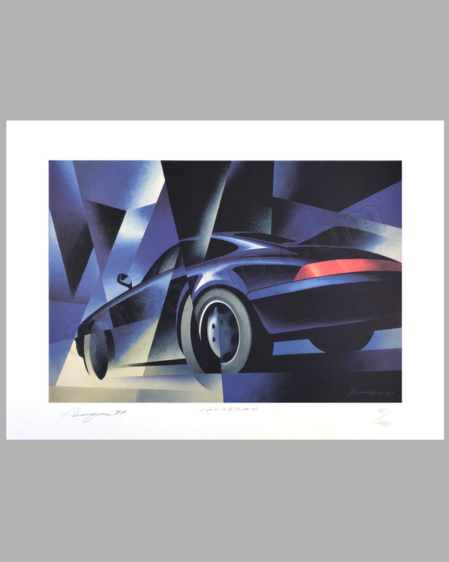 Carrera 4 lithograph by Alain Lévesque