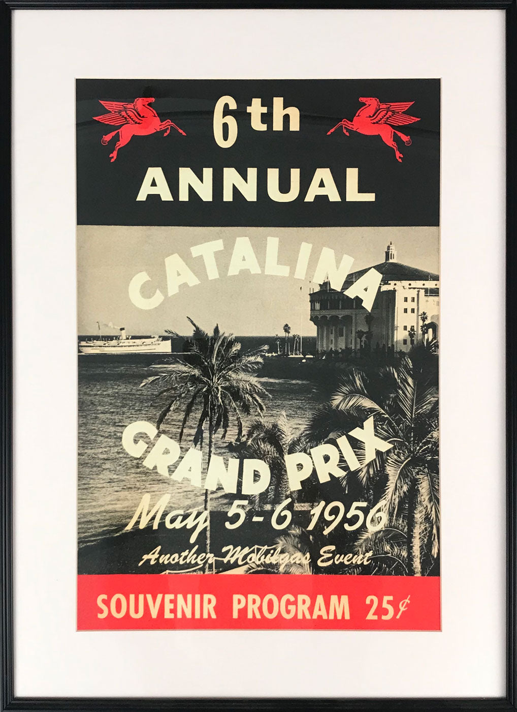 6th annual Catalina Grand Prix poster 1956