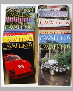 Collection of 28 Cavallino magazines about Ferrari from #35 to #91
