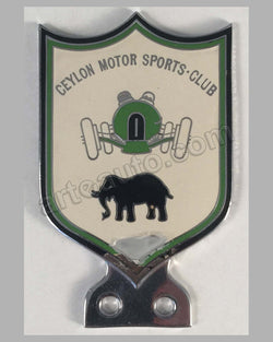 Ceylon Motor Sports Club bumper badge