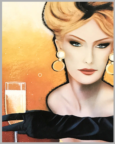 Champagne de Castellane large advertising poster by Razzia 2