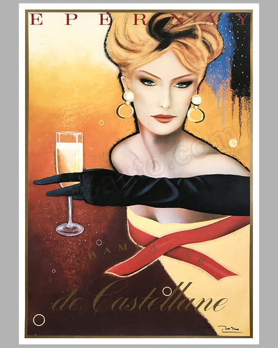 Champagne de Castellane large advertising poster by Razzia