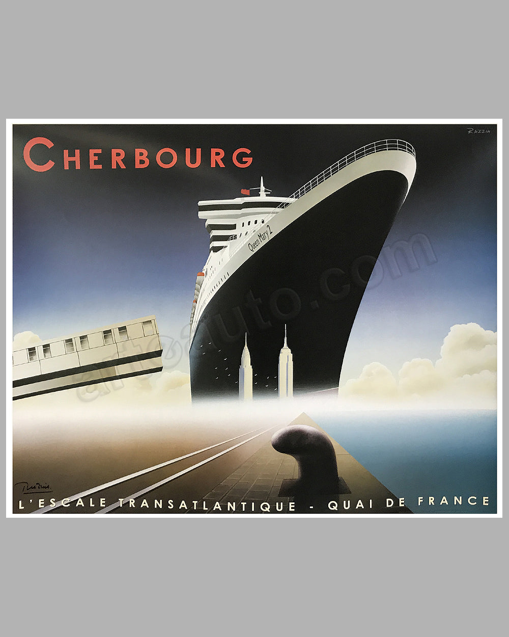 Cherbourg l' Escale Transatlantique large poster by Razzia