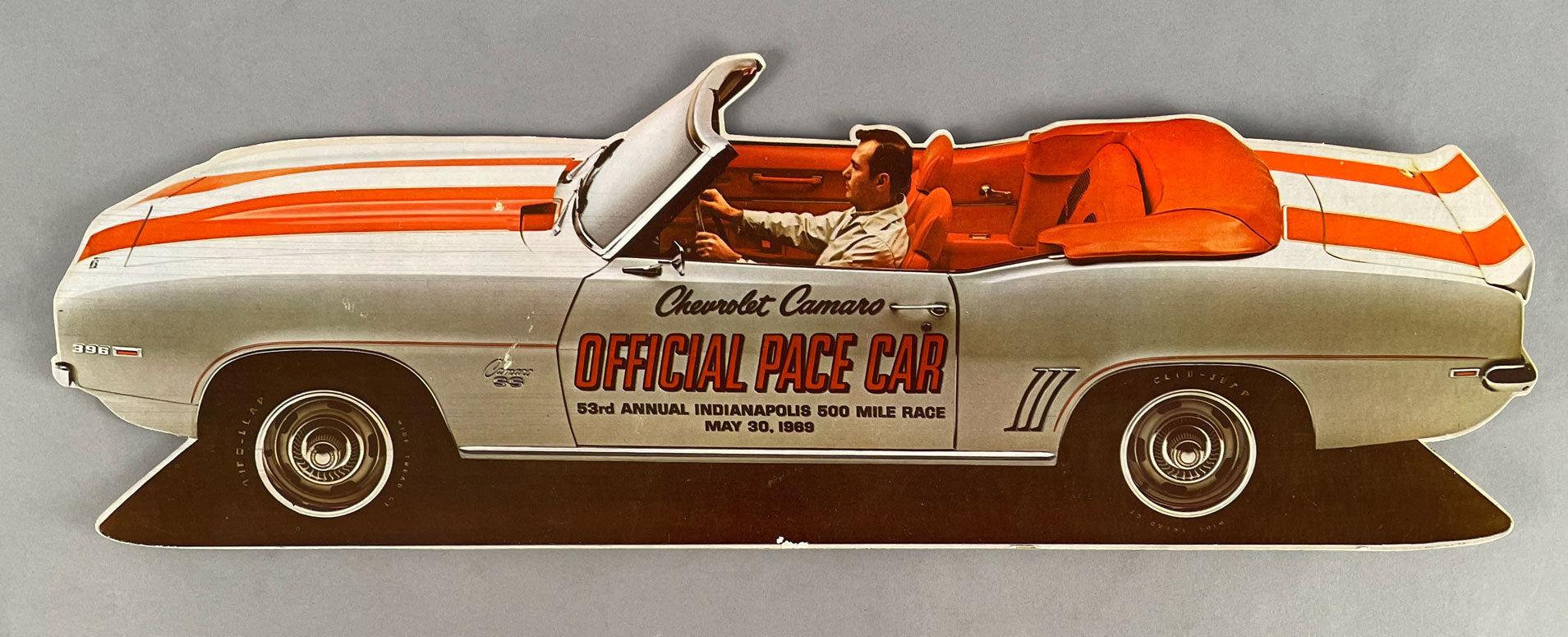 Chevrolet Camaro official pace car, dealership desk display, Indy 500