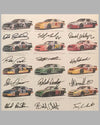 1995 Chevrolet Racing Daytona 500 ad copy, autographed by the 12 drivers 2