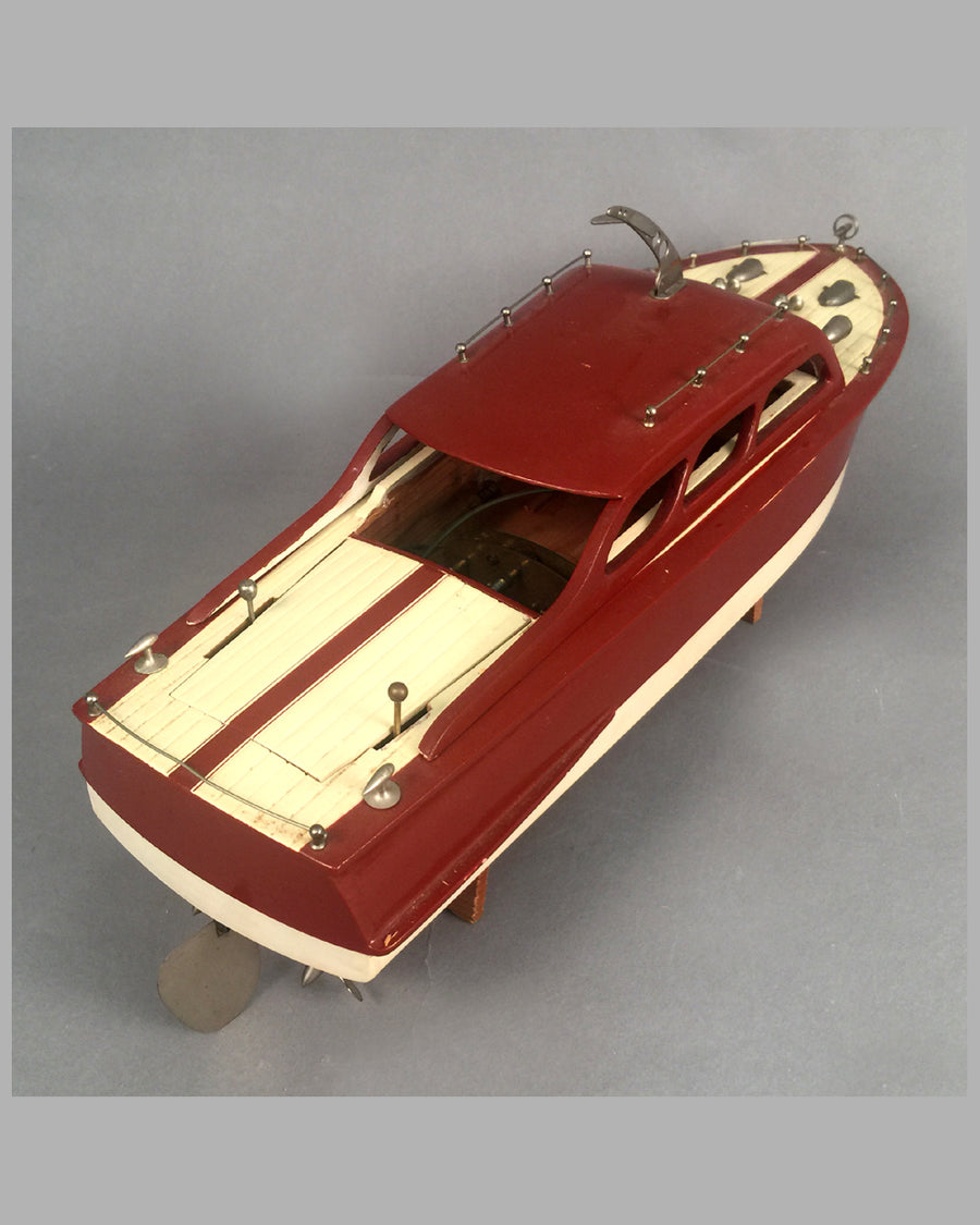 Wooden Chris Craft cabin cruiser wood toy 3