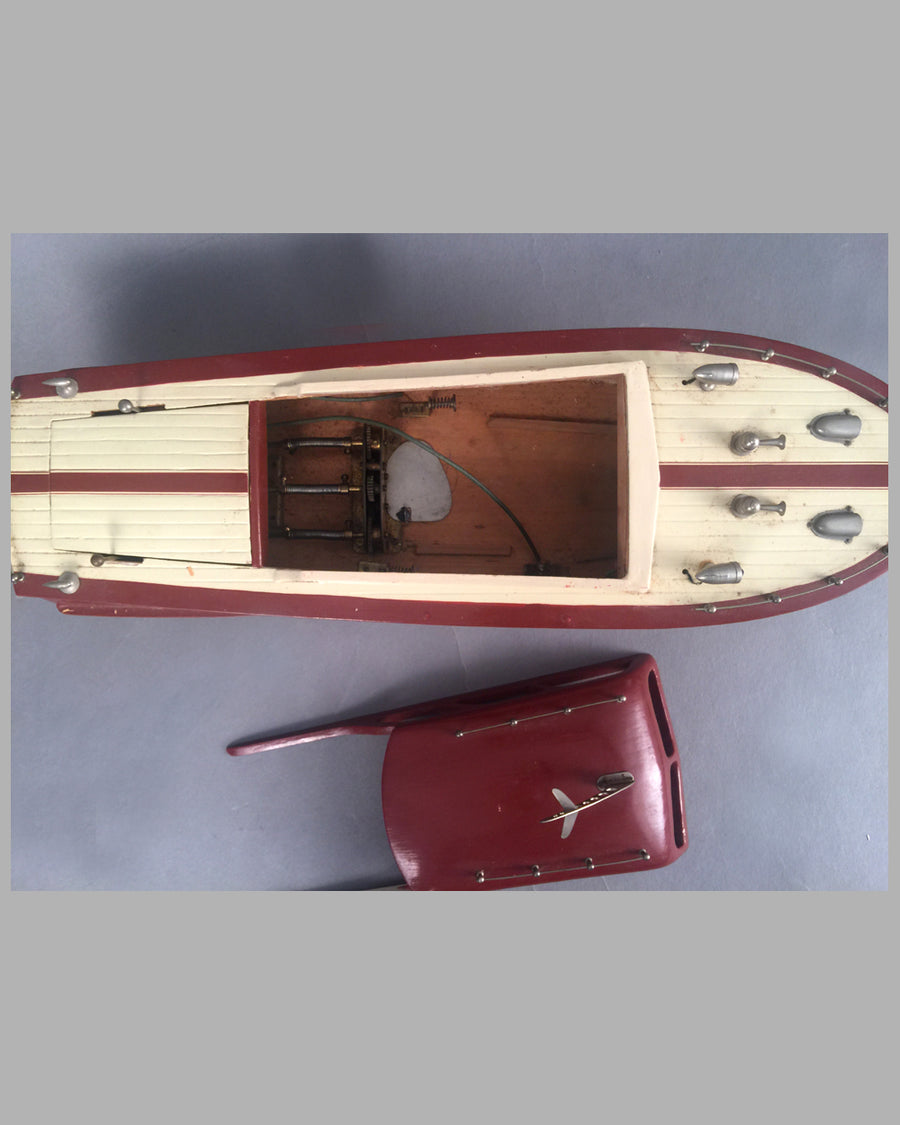 Wooden Chris Craft cabin cruiser wood toy 4