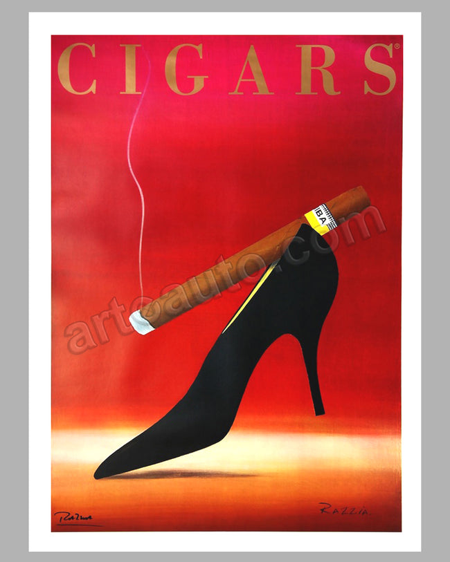 Cigars large original poster by Razzia