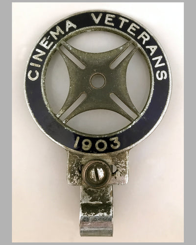 Cinema Veteran 1903 bumper or bar badge for club members