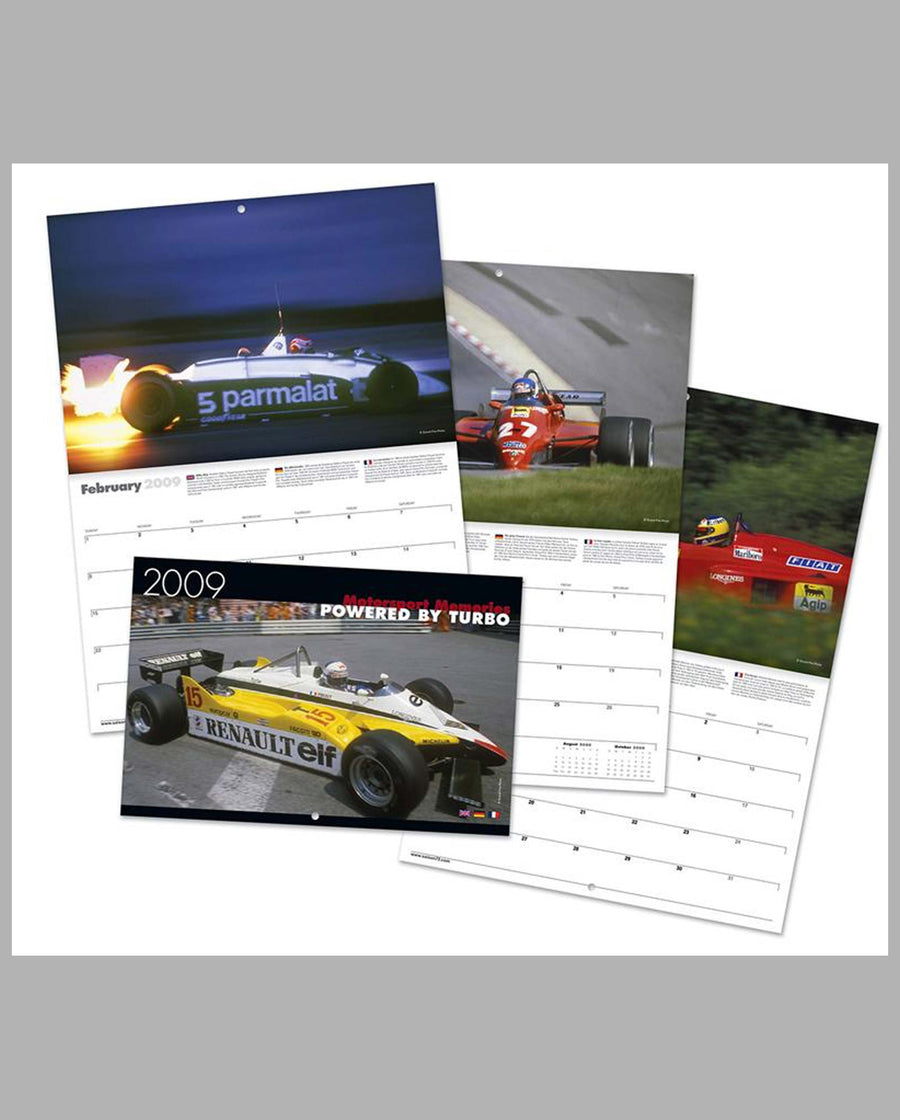 Classic Grand Prix Calendar for 2009 inside