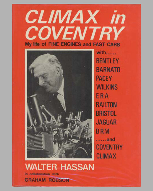 Climax in Coventry book by Walter Hassan, 1st ed., 1935