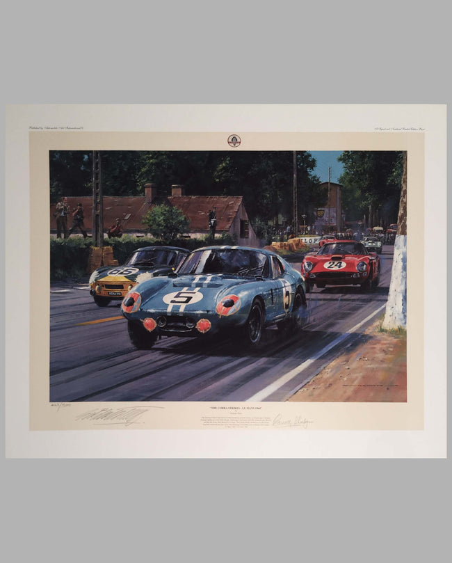 The Cobra Strikes, Le Mans 1964 print by Nicholas Watts
