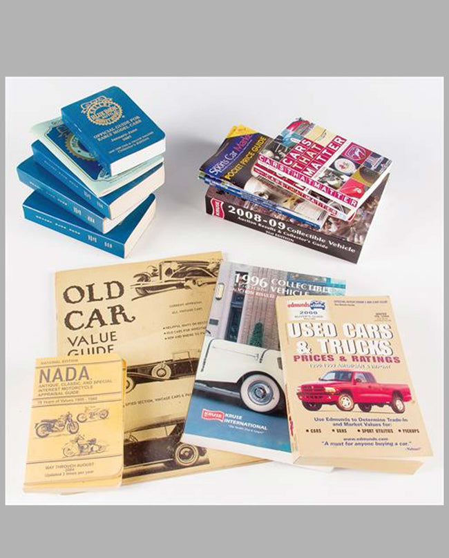 Collectible vehicle price guides (lot of 17)