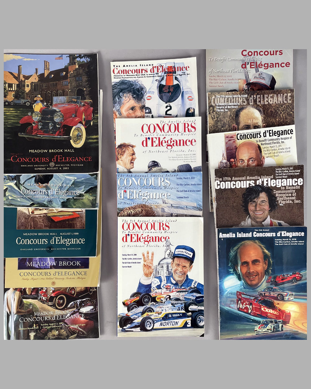 Collection of 14 Concours d'Elegance programs