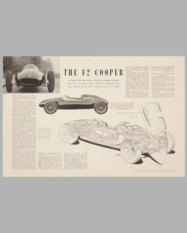 Cooper F2 original factory brochure