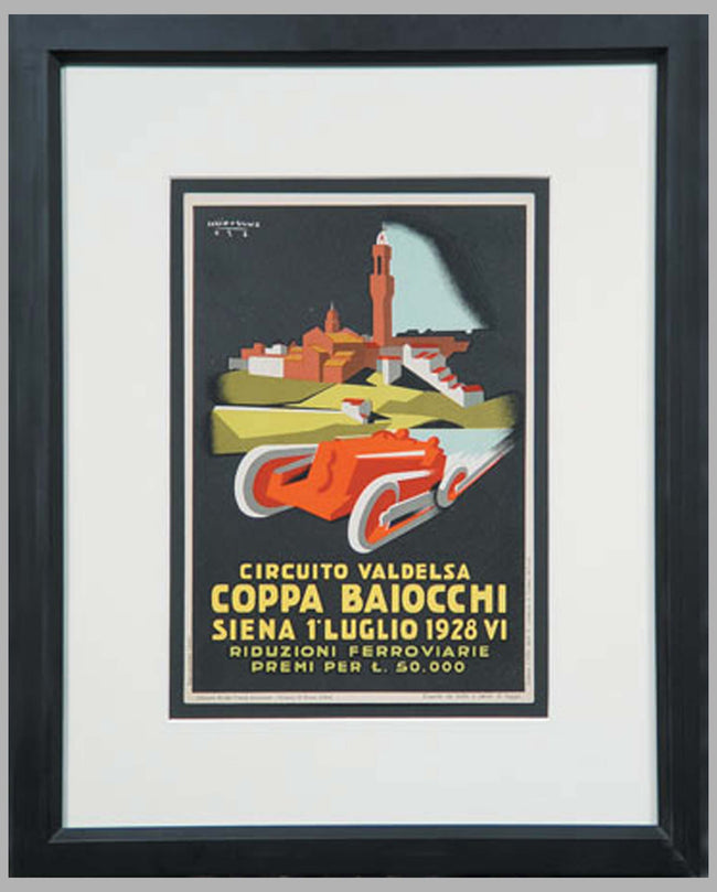 Coppa Baiocchi official event poster by Lucio Venna, Italy