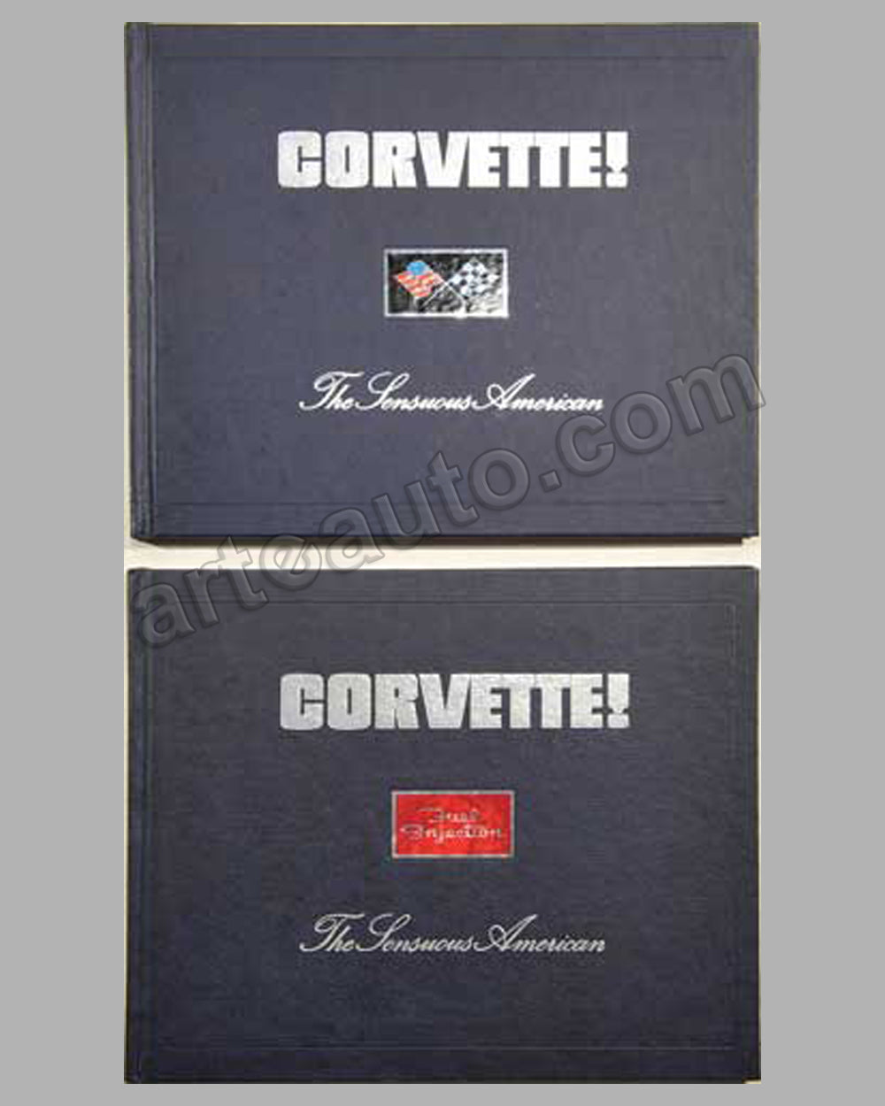Two volumes Corvette - The Sensuous American by M. Antonick
