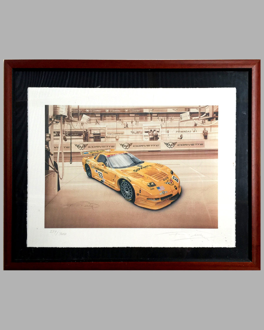 Corvette C5R print by François Bruere, France