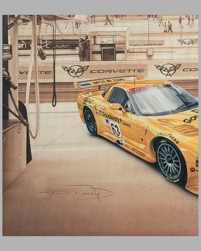 Corvette C5R print by François Bruere, France 2