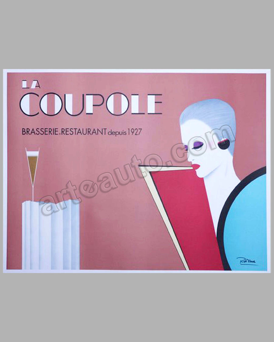 La Coupole large original poster by Razzia