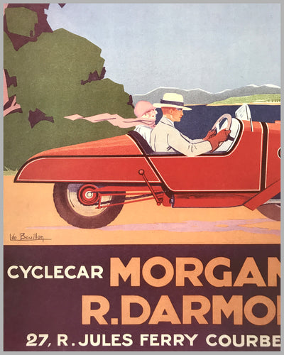 Cyclecar Morgan advertising poster by Leo Bouillon 2