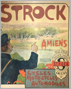 1890's Cycles Strock, French period advertising poster, by Charles Tickon 2