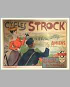 1890's Cycles Strock, French period advertising poster, by Charles Tickon