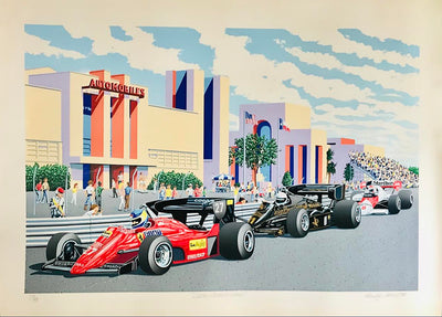 Dallas GP 1984 serigraph by Randy Owens