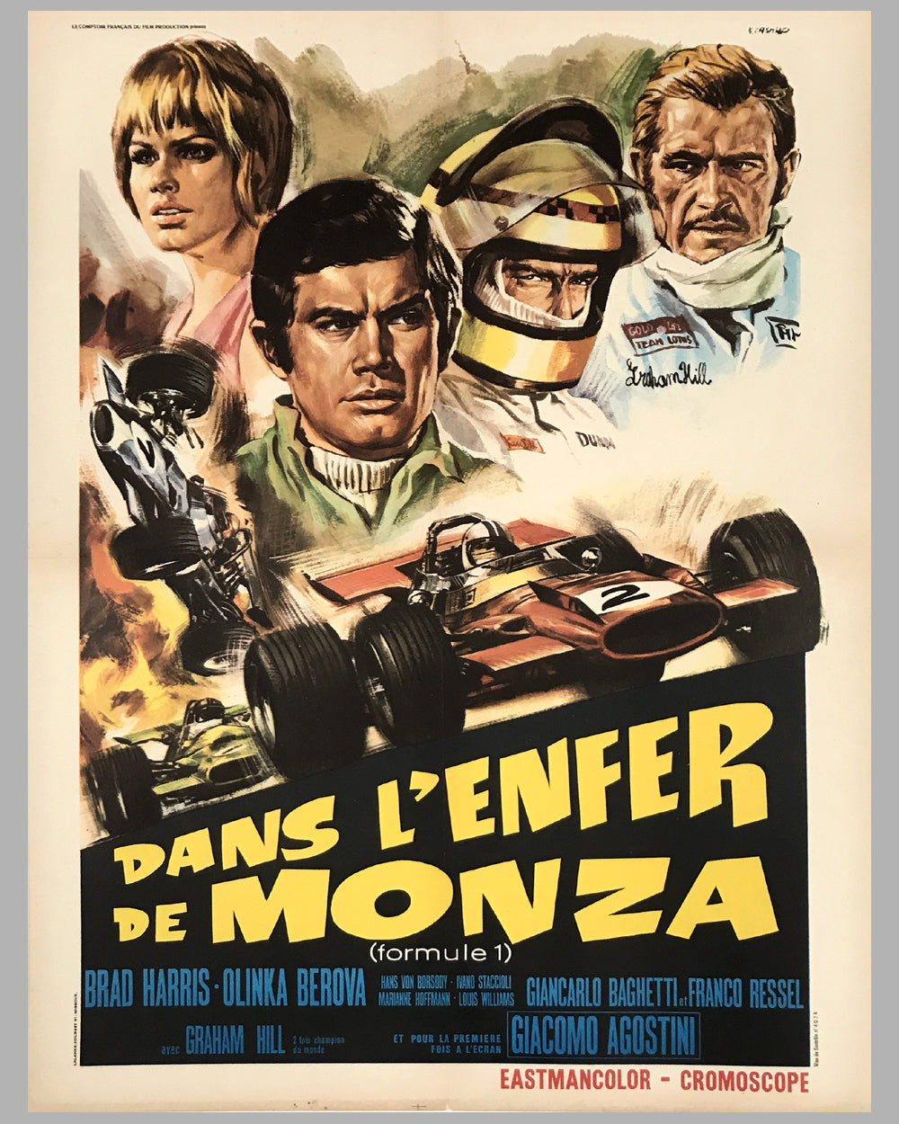 Dans l'Enfer de Monza movie poster, 1972