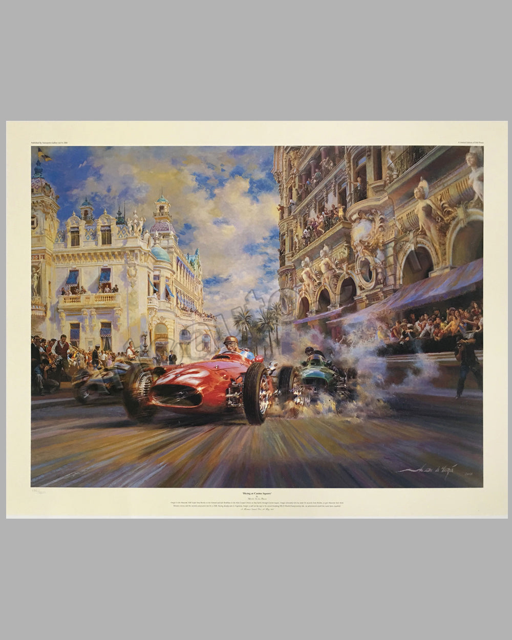 Dicing at Casino Square print by Alfredo de la Maria