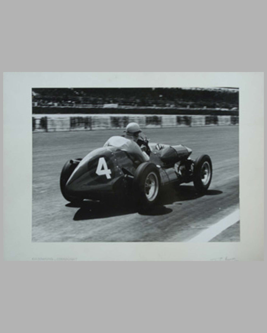 Downing's Connaught at Silverstone-1952 period lack and white photo
