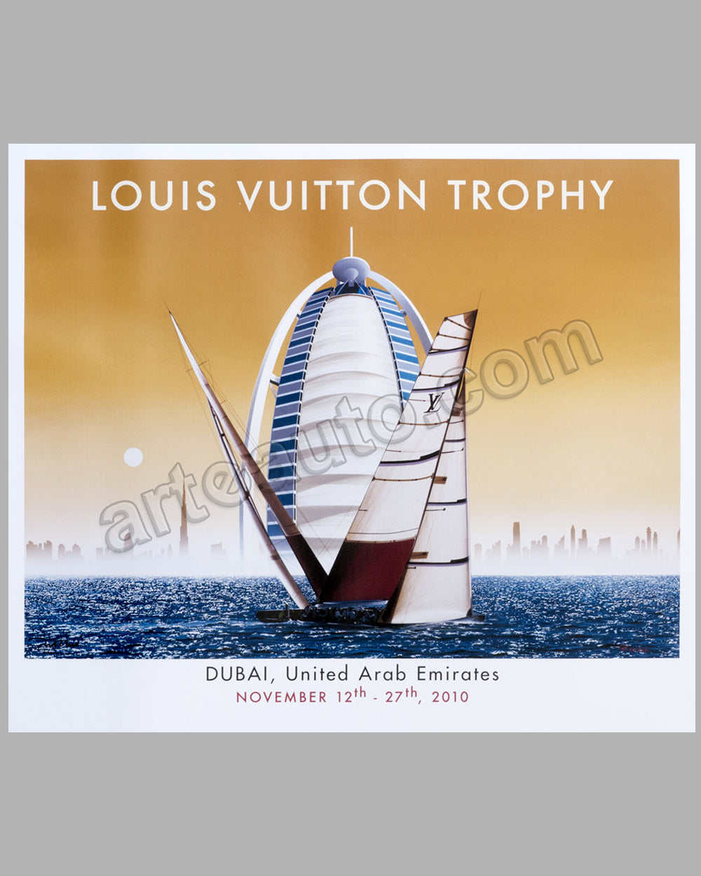 Louis Vuitton Trophy - Dubai - 2010 large poster by Razzia