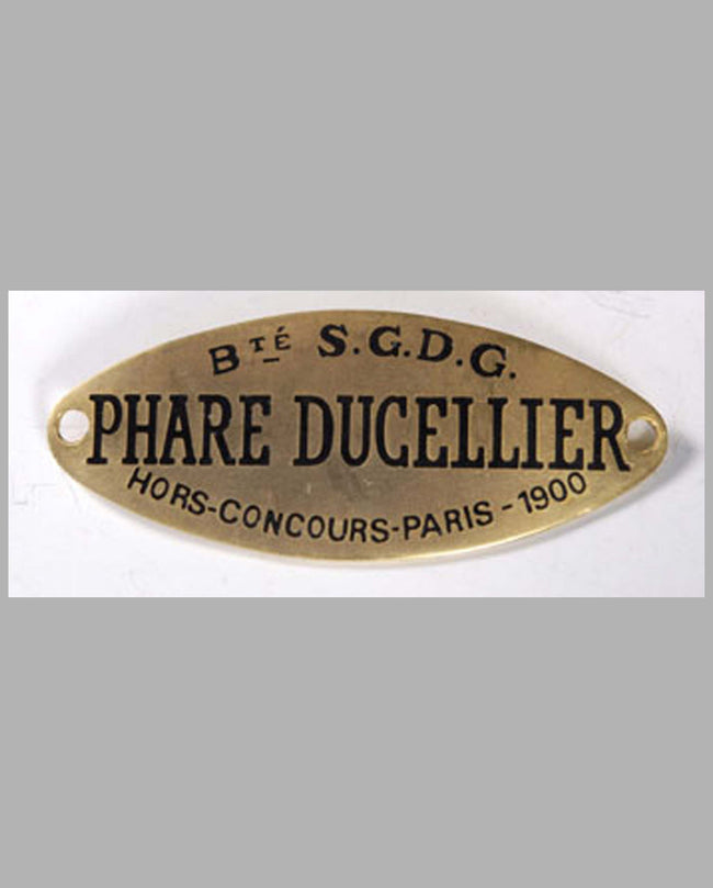 Ducellier headlight maker name tag