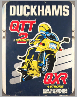 Duckhams 2 and 4 stroke high performance engine protection aluminum sign