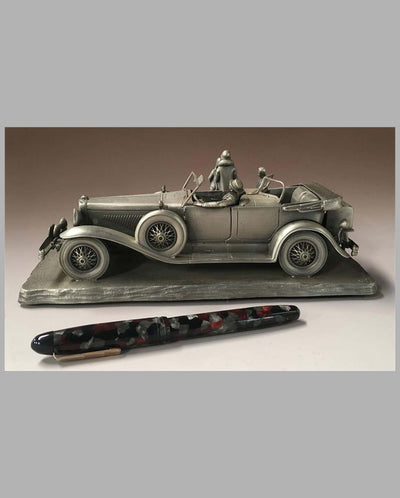 The Duesenberg Model J Pewter Sculpture by Raymond Meyers, left side