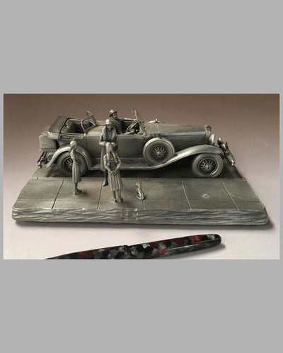 The Duesenberg Model J Pewter Sculpture by Raymond Meyers, right side
