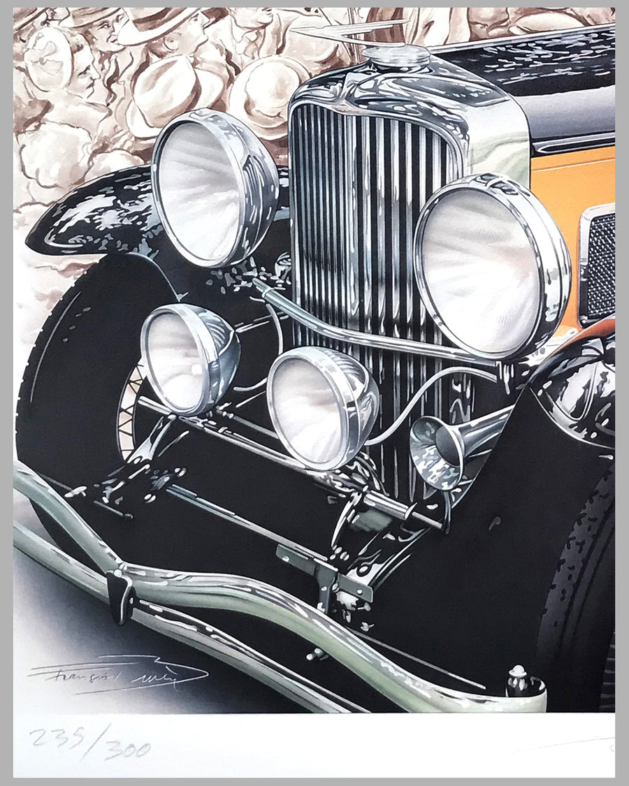Duesenberg on the Block lithograph by Francois Bruere 2