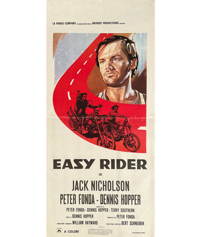 Easy Rider original Italian movie poster