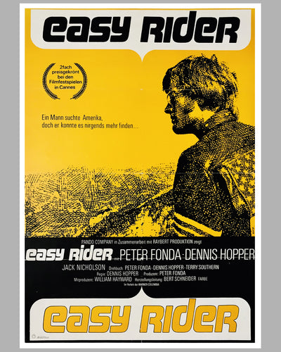 Easy Rider original movie poster, 1969